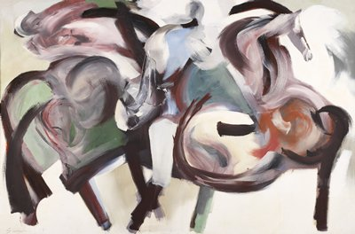 Figural abstraction. Animal. Horse.
