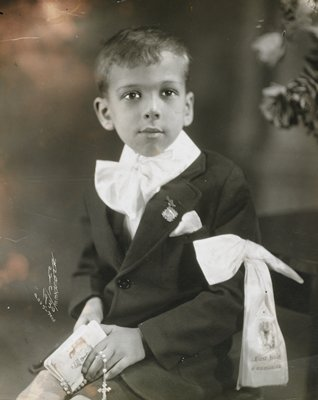 young boy at First Communion