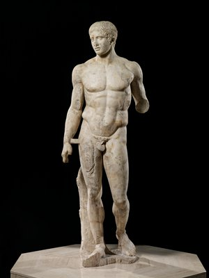 after Polykleitos, Roman copy of Greek original, the original executed in bronze, c.440 BCE; one of four known extant copies