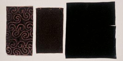 black woven velvet sample