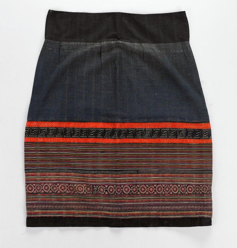 denim color; stripes at bottom