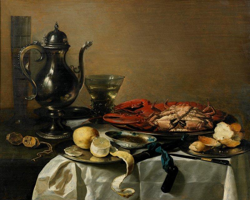 Dutch Golden Age. 'Vanitas' still life.