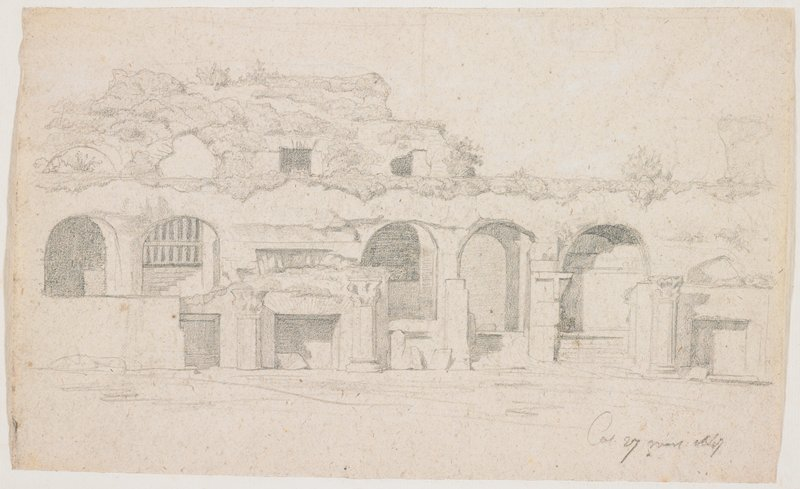 arches and columns in Colosseum