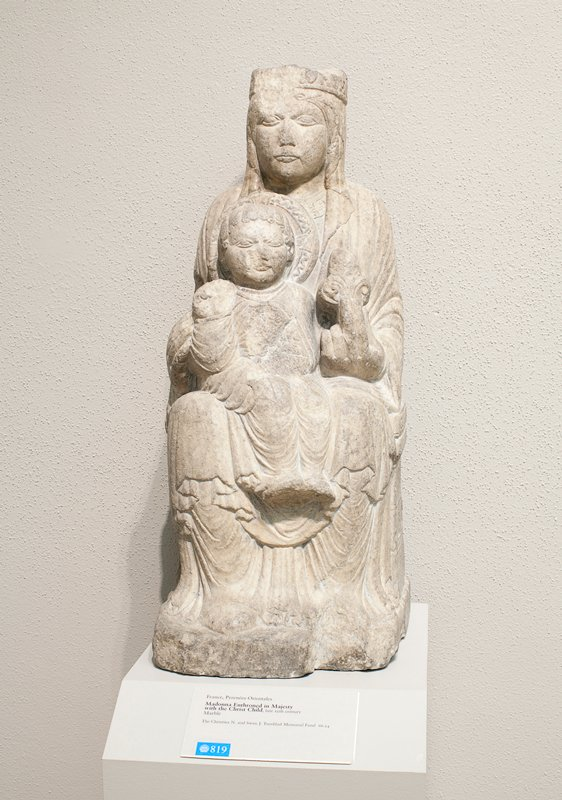 Madonna Enthroned with the Christ Child, marble.