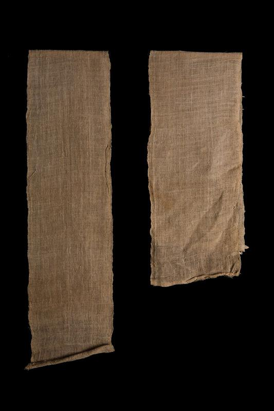 long, tan loosely woven panel