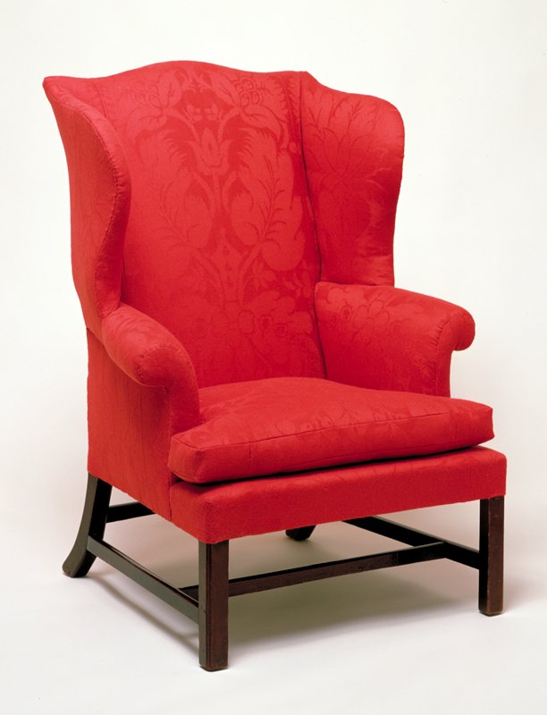 upholstered in Italian brocade