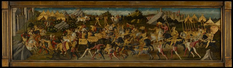 cassone panels; P. Cornelius Scipio Africanus Major storming New Carthage.
