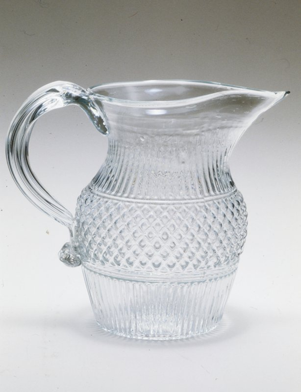 Pitcher, ribbed.