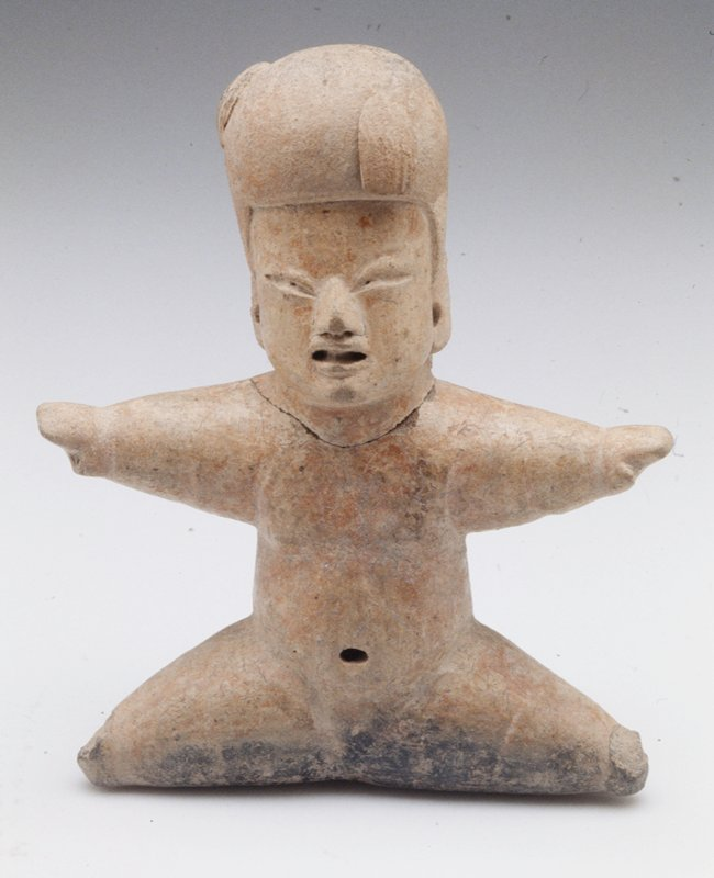 Child with Helmet, earthenware, Mexico, Olmec culture, 1000-500BC