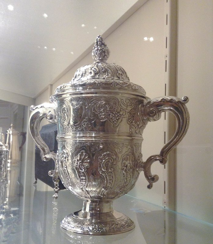 George II covered two-handled cup