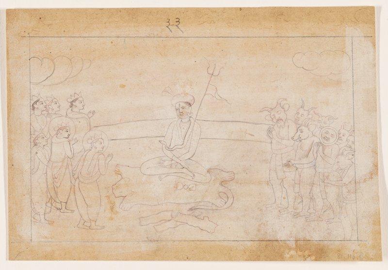 illustration from a Ramayana series: Kangra