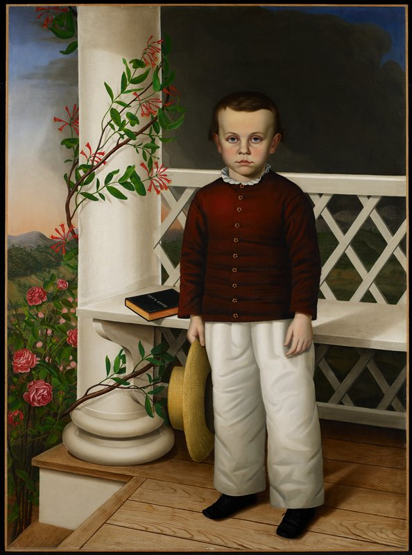 Portrait. Posthumous mourning portrait of an unknown child.