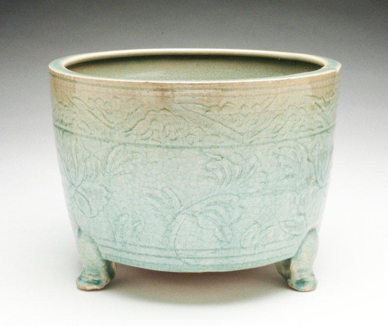 Celadon Jardiniere, ceramic, Ming