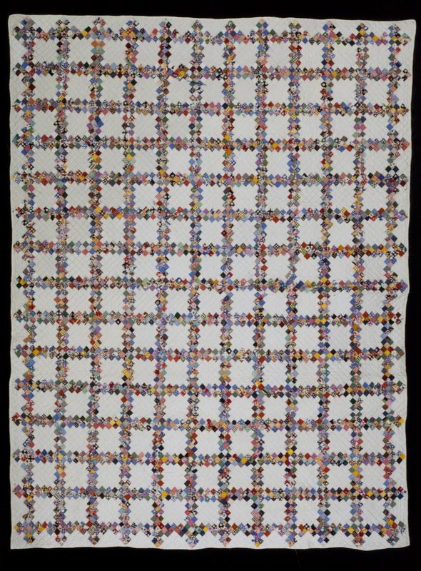 pieced quilt (stored in box) in Double Irish Chain