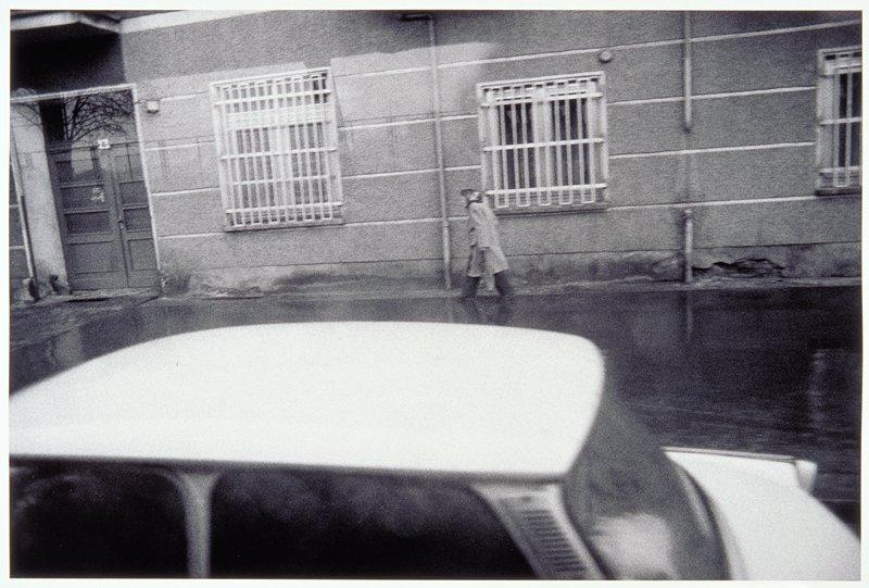 street scene, barred windows