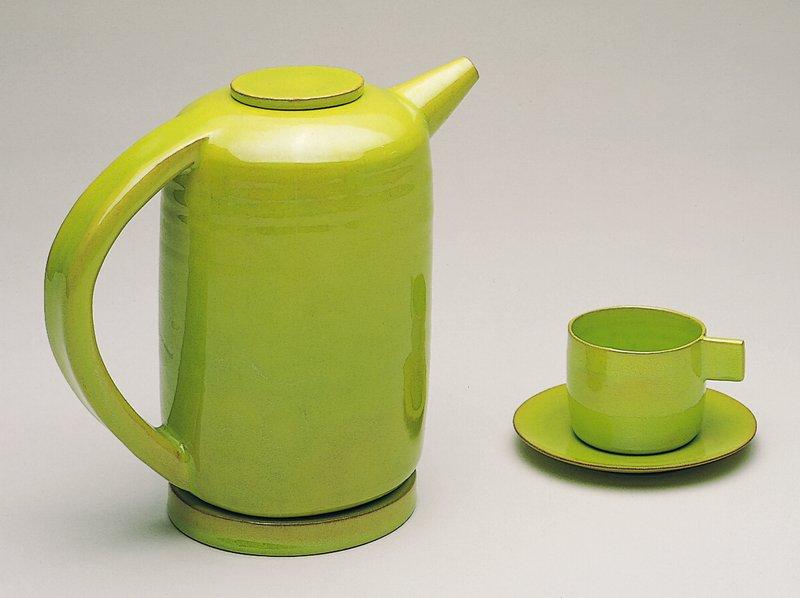 chartreuse glaze; modernistic form