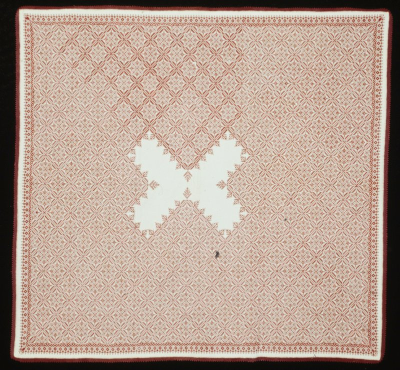 Fez embroidery, counted stitch reversable embroidery with needleworked edge