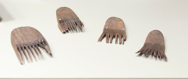 small comb with rounded top