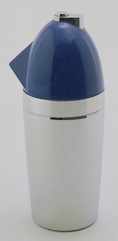 bullet shape with blue cover