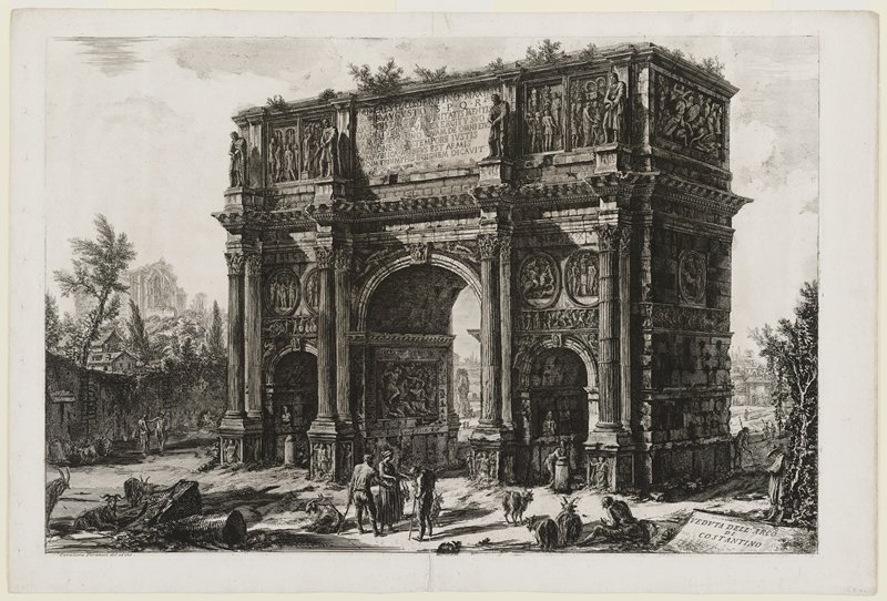 "80; title on cartouche, towards L below: ""Veduta del Tempio detto della Concordia;"" black and white"