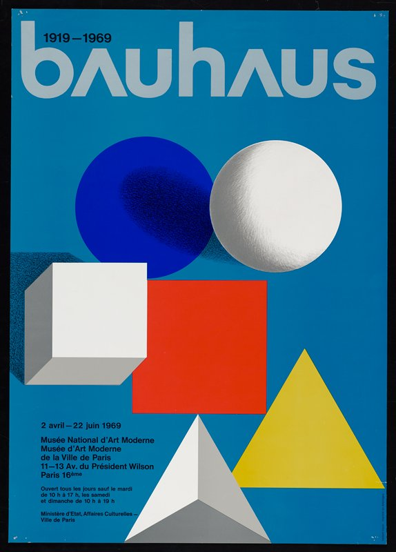 white, blue, orange and yellow circles, squares and triangles on light blue background