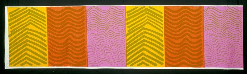 cotton printed in multi-colored designs
