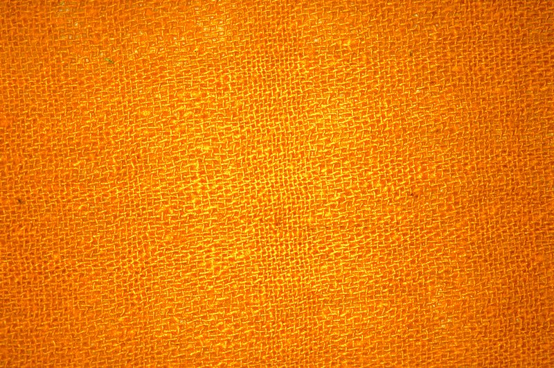 "Rough plain weave. 2 1/2 vertical pattern repeat, horizontal repeat 1to 1 1/4"". Rough plain weave. 2 1/2 vertical pattern repeat, horizontal repeat 1to 1 1/4"". Yellow Orange"