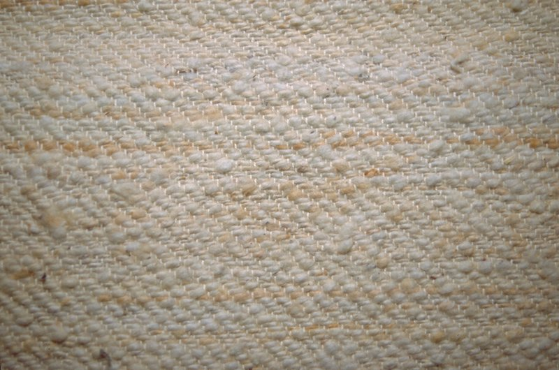Twill weave with horizontal striae. Natural Natural Twill