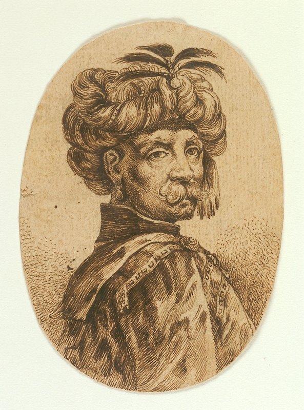 study of a man wearing a turban