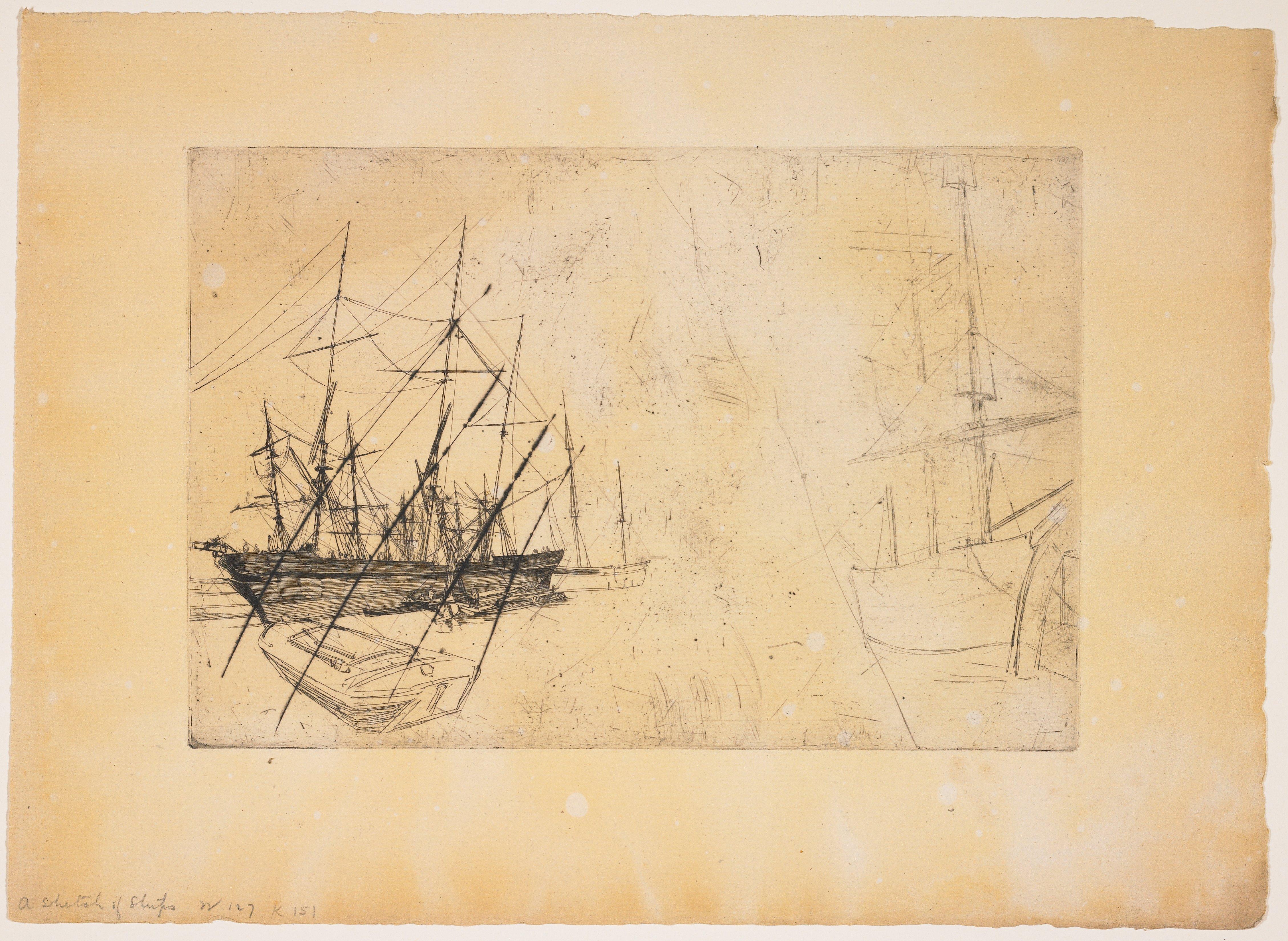 Sketch of Ships, James McNeill Whistler | Mia
